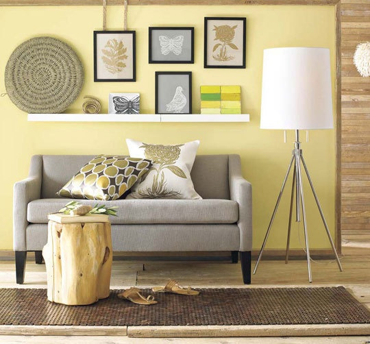 lemon and grey living room lemon sorbet 2013 colour of the year design yyc 20362
